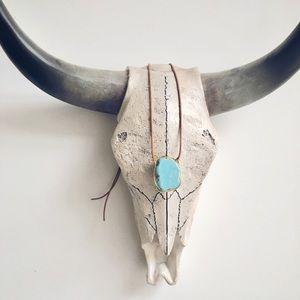 Artisan Wire Wrapped Turquoise Stone Pendant